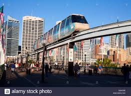 monorail darling harbour sydney wallpapers sydney monorail crossing over bridge on elevated track with stock