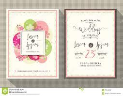 Wedding Invitation Card Template Floral Cherry Blossom Wedding Invitation Card Template Stock