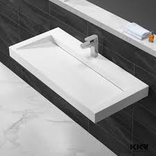 stone trough sink stone pedestal sink bathroom trough sinks