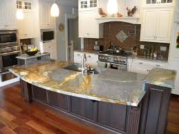 Kitchens With Different Colored Islands by Types Of Kitchen Countertops Good Kitchen Countertop Material