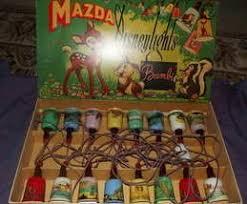 vintage mazda disneylights character shaded string lights