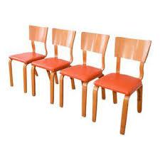 vintage u0026 used orange dining chairs chairish