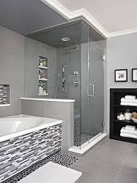 gray and white bathroom ideas black and white bathroom ideas river rock floor vanity