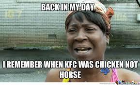 Kfc Chicken Meme - chicken kfc horse by saminnes1999 meme center
