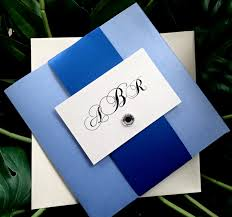 silver and royal blue wedding wedding invitation royal blue design yaseen for