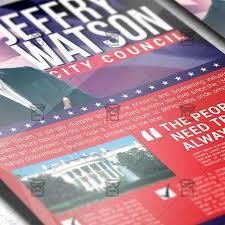 political election u2013 premium flyer template exclsiveflyer free