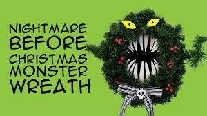 diy disney nightmare before christmas monster wreath disney