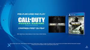 call of duty infinite warfare black friday amazon call of duty modern warfare remastered campaign early access on