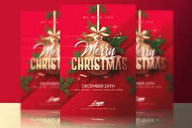 merry christmas party flyer template flyer templates creative