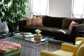 Dark Brown Sofa by Living Room Decorating Ideas With Dark Brown Leather Sofa
