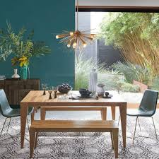 anderson solid wood expandable dining table raw acacia west elm au
