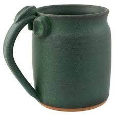 handcrafted pottery coffee mug 22 oz and i must go enamel steel