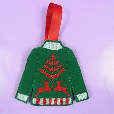 Ugly Christmas Decorations - jumper christmas decorations santa xmas decs embroidered ugly