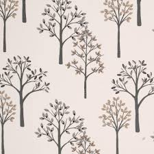 Nursery Curtains Uk by Woodland Curtain Fabric Charcoal Free Uk Delivery Terrys Fabrics
