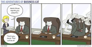 Business Cat Memes - the adventures of business cat reports by tomfonder on deviantart