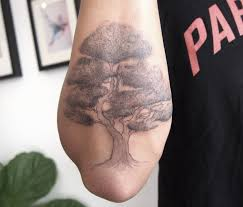 tree on outer forearm tattoo people toronto jess chen outer