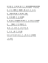 Bad Day Chords Flute Sheet Music