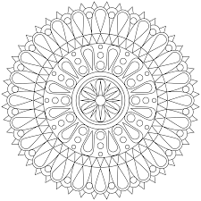 Adult Mandala Coloring Page 30053 Bestofcoloring Com Coloring Pages Middle School