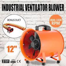 industrial air blower fan 12 inch extractor fan blower portable 5m duct hose ventilator