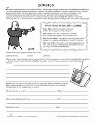 all about zombies worksheet education com