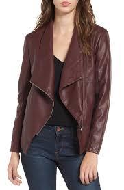 bb dakota bb dakota gabrielle faux leather asymmetrical jacket nordstrom