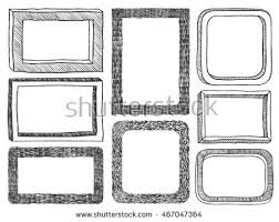 frames doodle vector set 8 simple stock vector 467047364