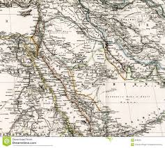 Maps Of Middle East by Antique Map Of Middle East Arabia Iraq Royalty Free Stock Photos