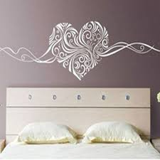 stickers chambre adulte maaryee 120x33 cm romantique coeur peint vinyle amovible stickers