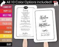 nautical wedding programs simple border script wedding program fan warm colors