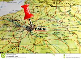 France On Map Red Push Pin On Map Of France Stock Photo Image 47254799
