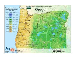 map of just oregon plant hardiness zone map individual state hardiness zone maps