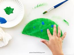 coffee filter craft peacocks fingerprint painting fun