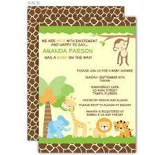 jungle safari baby shower invitation jungle animals a lion and