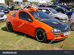 opel modified peterborough england may 23 orange vauxhall stock photo 73564987