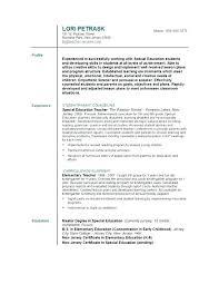 resume template education educator resume template sle teaching for cv free