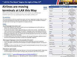 Allegiant Route Map 21 Airlines To Move Terminals Overnight During Massive Lax
