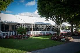 long term clear span tent rental for venue renovation tentlogix