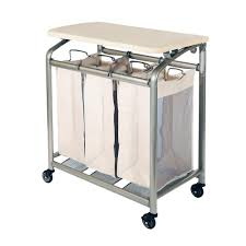 Laundry Sorter With Folding Table Seville Classics 3 Bag Laundry Sorter With Folding Table Web182