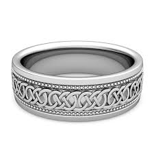 mens celtic wedding rings mens celtic knot wedding band in 14k gold milgrain comfort fit ring