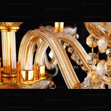 Elegant Crystal Chandelier 18 Light Candle Type Champagne Large Crystal Chandelier