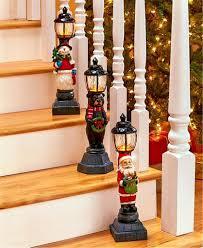 Holiday Decor Catalogs Lighted Christmas Holiday Decor Santa Bear Or Snowman Lantern