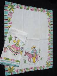 Mexican Kitchen Curtains by Vintage Kitchen Tablecloths U0026 Towels