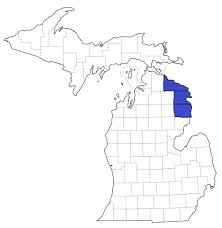 Michigan Map With Counties by Where We Build Habitat For Humanity Northeast Michigan