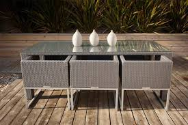 silver taupe outdoor rattan contemporary dining u0026 bistro blonde