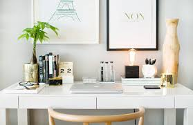 how to style the west elm parsons desk the everygirl