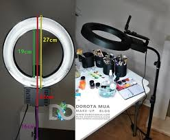 portable lighting for makeup artists review portable ring light update dorotamua