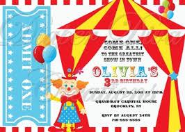 Circus Birthday Decorations Carnival Birthday Invitations Cheap Carnival Birthday