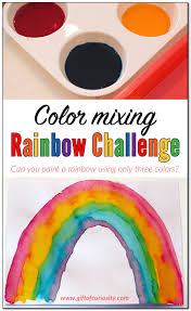 color mixing rainbow challenge putting color theory into practice
