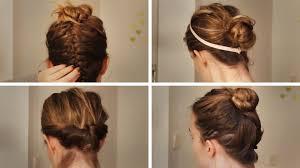 Hochsteckfrisuren Mittellange Haare Einfach by Haare Alltags Frisuren 4 Frisuren Für Arbeit Uni Schule