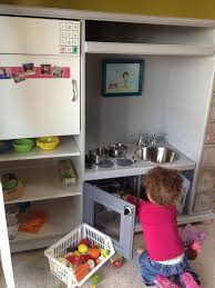 Play Kitchen From Old Furniture by Play Kitchen Set From Entertainment Center 6 Steps With Pictures